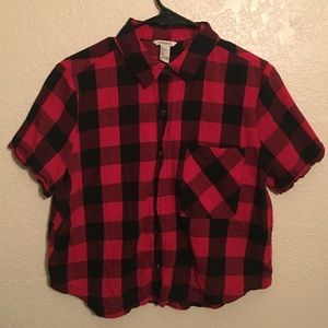 Red Short Sleeve Flannel